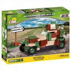Cobi 2393 SMALL ARMY – II WW Obrněné vozidlo vz. 34, 253 k, 1 f