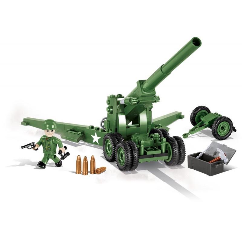 COBI 2394 World War II Dělo 155mm M1 Long Tom