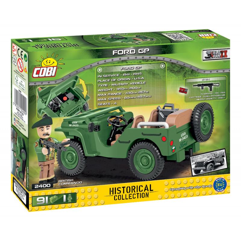 Cobi 2400 SMALL ARMY - II WW: terénny automobil Ford GP, 91 k, 1 f