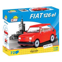 Cobi 24531 Youngtimer MALÝ FIAT 126p 1994-1999, 1:35, 72 k