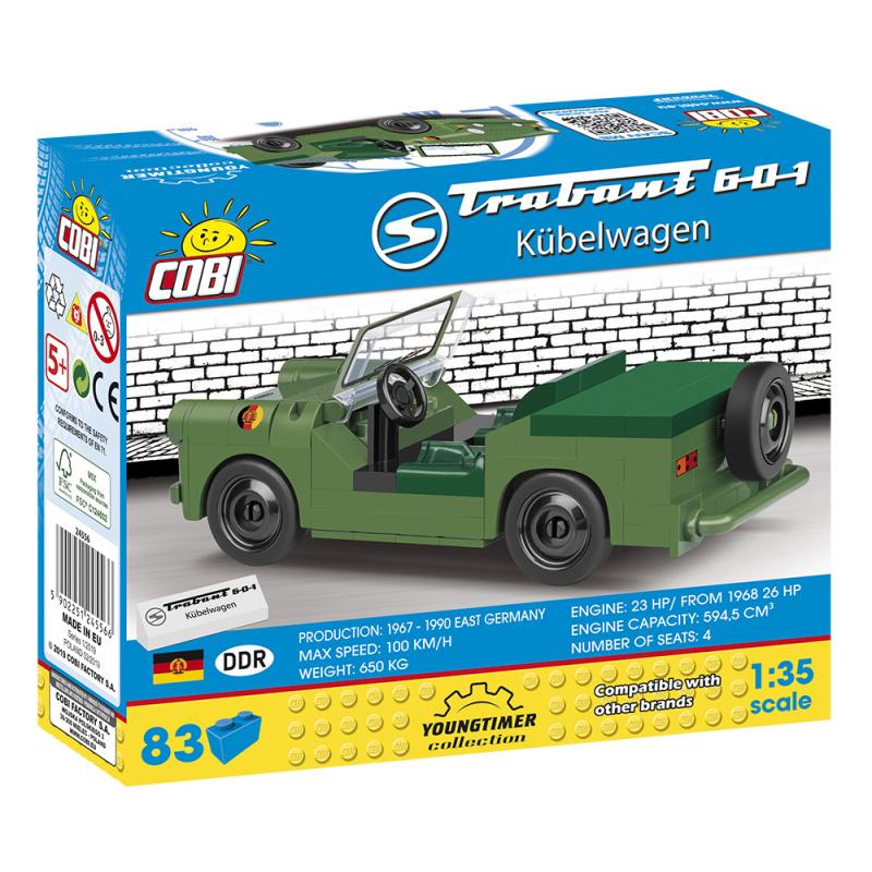 Cobi 24556 Youngtimer Trabant 601 Kubelwagen, 1:35, 83 k