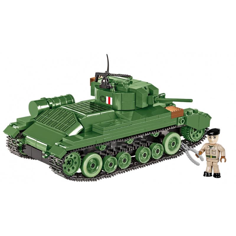 Cobi 2521 SMALL ARMY – II WW Infantry Tank Mk III Valentine, 406 k, 1 f