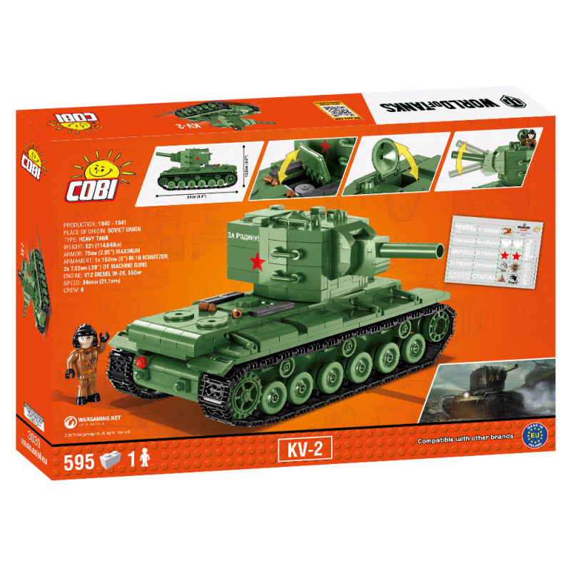 Cobi 3039 World of Tanks – KV-2, 595 k, 1 f