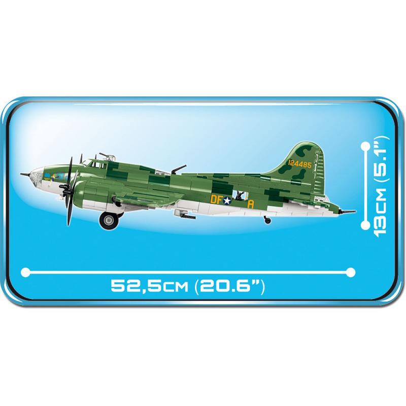 COBI 5707 World War II Americký dálkový bombardovací letoun Boeing B-17F MEMPHISKÁ KRÁSKA