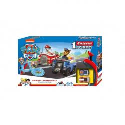 Autodráha Carrera First Paw Patrol / Tlapková Patrola 3,5m plast +2 autá na bat. v krabici 50x30x8cm