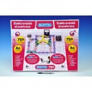 Stavebnica Boffin 750 elektronická 750 projektov na batérie 80ks v krabici 52x40x8cm