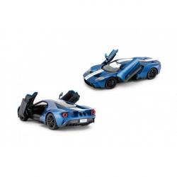 Auto RC Ford GT plast 30cm modrej na batérie v krabici 43x18x26cm