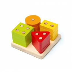 Cubika 15344 Triedime tvary IV - drevená skladačka 17 dielov