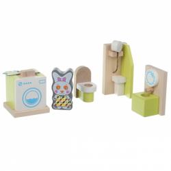 CUBIKA 12633 Koupelna - dřevěný nábytek pro panenky