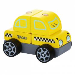 Cubika 13159 Taxi vozidlo - drevená skladačka 5 dielov