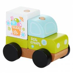 CUBIKA 13173 Zmrzlinový vůz - dřevěná skládačka 5 dílů
