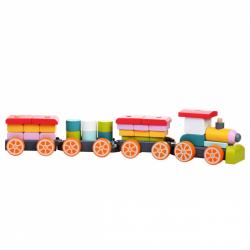 Cubik 13319 Vláčik tri vagóny - drevená skladačka 35 dielov