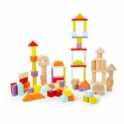 Cubik 13821 Stavebnica universal - drevená stavebnica 80 dielov