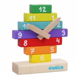 Cubik 14354 Hodiny s magnetickými ručičkami - drevená skladačka 10 dielov