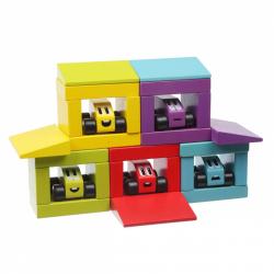 Cubik 14859 Veselé preteky - drevená stavebnica 30 dielov