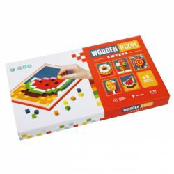 CUBIKA 14927 Pixel VI sladkosti - dřevěná mozaika 400 kostiček a 7 předloh