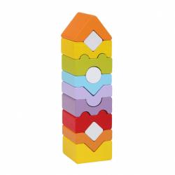 Cubik 14996 Veža XI - drevená skladačka 12 dielov