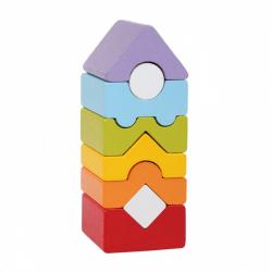 Cubik 15009 Veža XII - drevená skladačka 8 dielov
