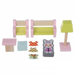 Cubik 15030 Obývacia izba - drevený nábytok pre bábiky