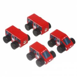 Cubik 15108 Rýchlik - drevený vláčik s magnetmi - 4 diely
