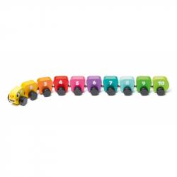 Cubik 15399 Farebná húsenica s číslami - drevená hračka s magnetmi 10 dielov