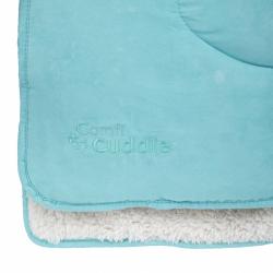 CUDDLECO Super měkká oboustranná dětská deka 140 x100 cm, Tiffany Blue