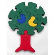 Dřevěné hračky - vkládací puzzle - Strom bez rámečku