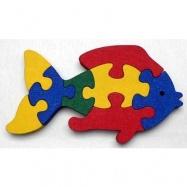 Dřevěné hračky - vkládací puzzle - Ryba bez rámečku