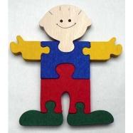 Dřevěné hračky - vkládací puzzle - Kluk bez rámečku