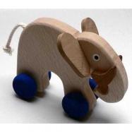Drevené hračky - hračka na kolieskach - Slon