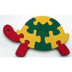 Dřevěné hračky - vkládací puzzle - Želva bez rámečku