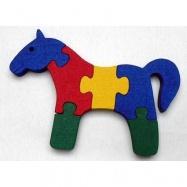 Dřevěné hračky - vkládací puzzle - Kůň bez rámečku