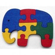 Dřevěné hračky - vkládací puzzle - Slon bez rámečku