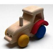 Dřevěné hračky - dřevěné auto - Traktor