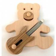 Muzikální hračky - Medvídek s basovou kytarou