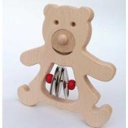 Muzikální hračky - Medvídek s nerezovými činely