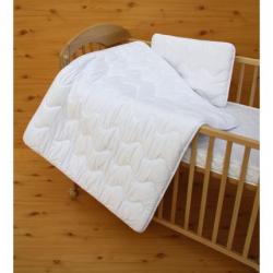 Zestaw do łóżeczka kołderka i poduszka Satin100 x 135 cm