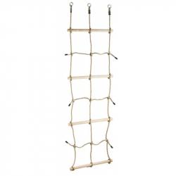 Šplhací síť s dřevěnými příčkami