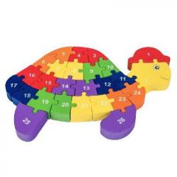 3D Puzzle - Želva s písmenky