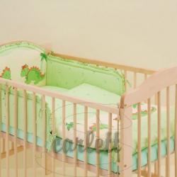 Komplet 3 częściowy do łóżeczka Smok - zielony