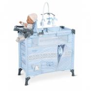 DeCuevas 53022 Skládací postýlka pro panenky s 5 funkčními doplňky Carol