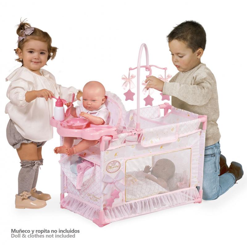 DeCuevas Moje první skládací postýlka pro panenky Maria