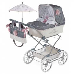 DeCuevas 82031 Skladací kočík pre bábiky REBORN so slnečníkom a doplnky Reborn 2019 - 90 cm