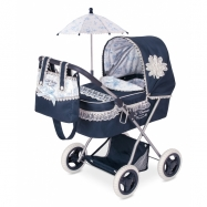 DeCuevas składany wózek dla lalek z parasolem Clasic Romantik