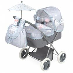 DeCuevas Skladací kočík pre bábiky s dáždnikom Martin 2019-M