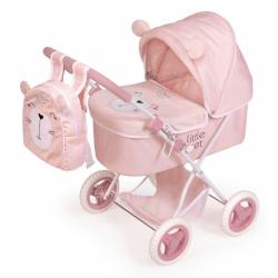 DeCuevas 85039 Skládací kočárek pro panenky s batůžkem Little Pet 2020 - 60 cm
