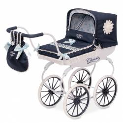 DeCuevas 87025 Kočík pre bábiky hlboký Classic Romantic 2018-M