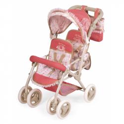 DeCuevas 90333 Skládací kočárek pro dvojčata panenky s taškou Martina 2020 - 72 cm