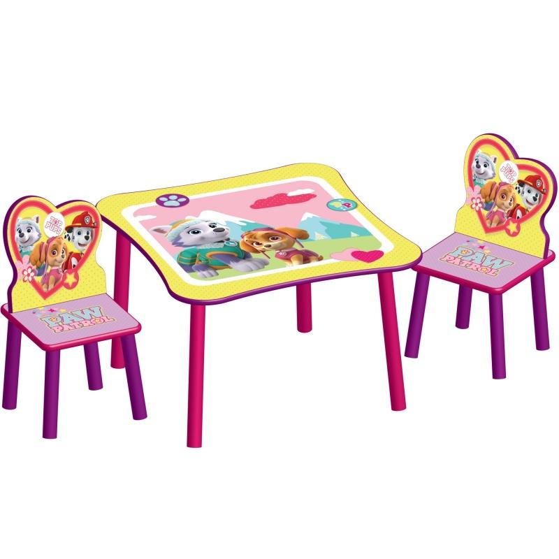 Dětský stůl s židlemi Tlapková patrola Pink Paw Patrol TT89578PW