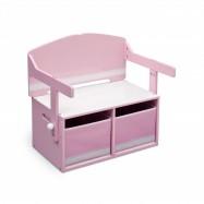 Dětská lavice s úložným prostorem  růžová TB84565GN
